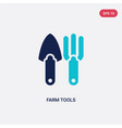 two color farm tools icon from farming and vector image vector image