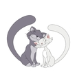 Two enamored cats vector image vector image
