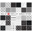 Universal set seamless patterns vector image vector image