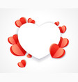 valentines day heart paper background vector image