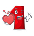with heart cartoon the number one for champion vector image