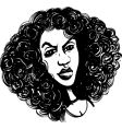 woman with curly hair vector image vector image