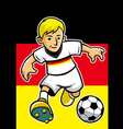 germany soccer player with flag background vector image
