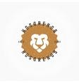 Lion head Hand Drawn Design Element in Vintage vector image