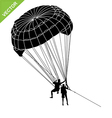 Parachute silhouette vector image