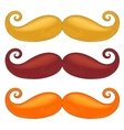 Set of mustache of different colors vector image
