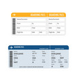 boarding pass vector image