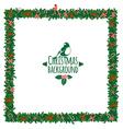 Christmas festive candy wreath frame vector image
