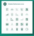 25 mathematics icons vector image vector image