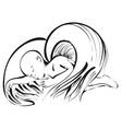 angel baby on white vector image vector image