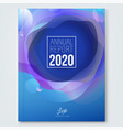 annual report cover design layout modern blue vector image vector image