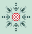 arrow hitting the target center vector image vector image