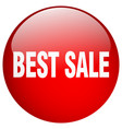 best sale red round gel isolated push button vector image vector image