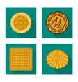 biscuit and bake symbol vector image