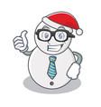 businessman snowman character cartoon style vector image