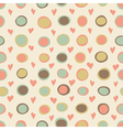 Cartoon hearts and circles seamless pattern vector image vector image