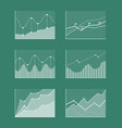 charts collection with frames vector image vector image