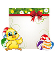 Chicken and Easter eggs vector image vector image