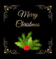 christmas composition with holly vector image vector image