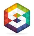Colorful hexagon logo