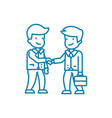 conclusion of an agreement linear icon concept vector image