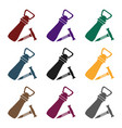 corkscrew and bottle-opener icon in black style vector image vector image