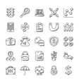 creative set of banking and finance icons vector image