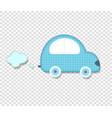 cute baby boy clip art car for scrapbook or baby vector image vector image