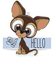 cute dog isolated on a white background vector image vector image