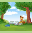 cute god with books vector image vector image