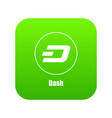 dash icon green vector image vector image