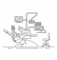 dentist chair vector image