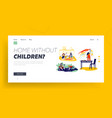 dirty kids landing page template naughty children vector image vector image