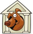 dog in doghouse vector image