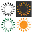 dollar symbol round frame vector image vector image