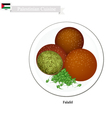 Falafel or Palestinian Deep Fried Ball of Chickpea