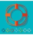 Flat design lifebuoy vector image