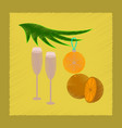 flat shading style icon glasses champagne oranges vector image vector image