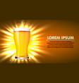 glass of beer isolated on white background vector image