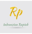 Golden Rupiah Symbol vector image vector image