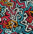 graffiti curves seamless pattern with grunge vector image