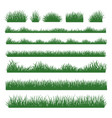 grass silhouette borders set on background vector image vector image