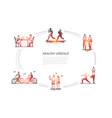 healthy lifestyle - people jogging walking doing vector image vector image