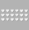 heart paper cut icon set love valentine frame sign vector image