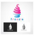 ice cream symbol vector image vector image