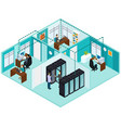 isometric datacenter concept vector image vector image