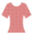 lady t-shirt halftone icon vector image