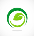 leaf ecology vegetarian curl abstract logo vector image