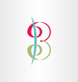 letter b with spirals number 3 icon vector image