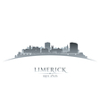 Limerick Ireland city skyline silhouette vector image vector image